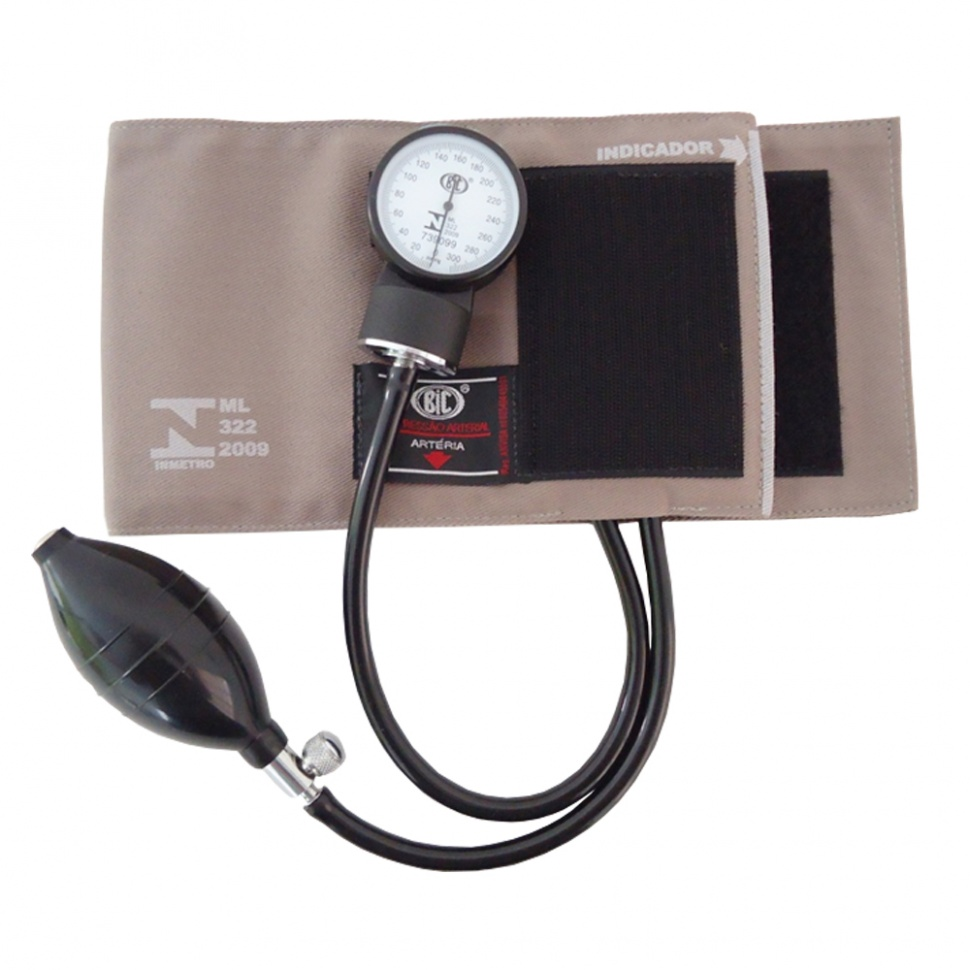 Aparelho de pressão esfigmomanômetro com velcro BIC..